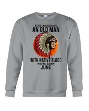 06 native blood old man Crewneck Sweatshirt tile