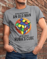 Rubiks Cube never old man Classic T-Shirt apparel-classic-tshirt-lifestyle-26