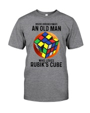 Rubiks Cube never old man Classic T-Shirt front