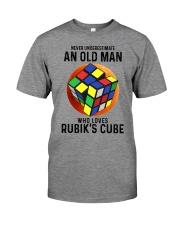 Rubiks Cube never old man Premium Fit Mens Tee tile