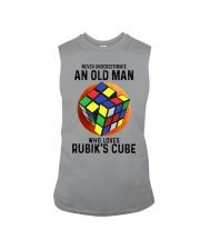 Rubiks Cube never old man Sleeveless Tee tile