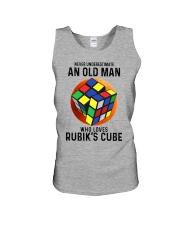 Rubiks Cube never old man Unisex Tank tile