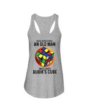 Rubiks Cube never old man Ladies Flowy Tank tile