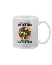 Rubiks Cube never old man Mug tile