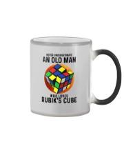 Rubiks Cube never old man Color Changing Mug tile