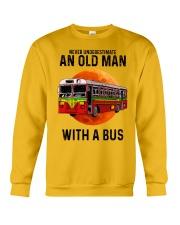 bus old man Crewneck Sweatshirt tile