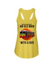 bus old man Ladies Flowy Tank tile