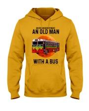 bus old man Hooded Sweatshirt tile