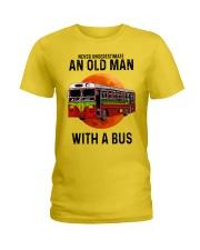 bus old man Ladies T-Shirt tile