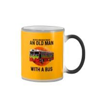 bus old man Color Changing Mug tile
