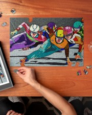 speed skating 250 Piece Puzzle (horizontal) aos-jigsaw-puzzle-250-pieces-horizontal-lifestyle-front-02