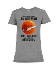 pool old man never 12 Premium Fit Ladies Tee tile