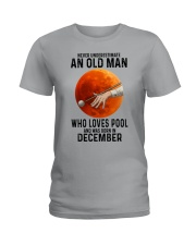 pool old man never 12 Ladies T-Shirt tile