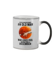 pool old man never 12 Color Changing Mug tile