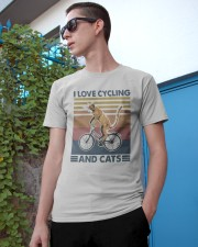 cycling and cat Classic T-Shirt apparel-classic-tshirt-lifestyle-17