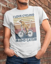 cycling and cat Classic T-Shirt apparel-classic-tshirt-lifestyle-26