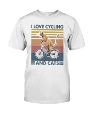 cycling and cat Premium Fit Mens Tee tile