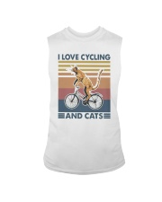 cycling and cat Sleeveless Tee tile