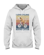 cycling and cat Hooded Sweatshirt tile
