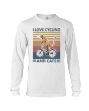 cycling and cat Long Sleeve Tee tile