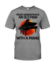09 hat piano old man Premium Fit Mens Tee tile