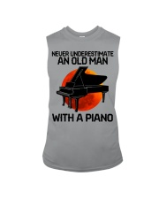 09 hat piano old man Sleeveless Tee tile