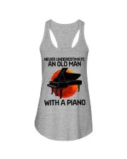 09 hat piano old man Ladies Flowy Tank tile