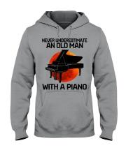 09 hat piano old man Hooded Sweatshirt tile
