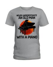 09 hat piano old man Ladies T-Shirt tile
