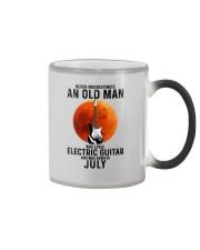 7 Electric guitar old man Color Changing Mug tile