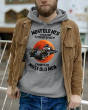 most old men drag racing Hooded Sweatshirt apparel-hooded-sweatshirt-lifestyle-front-113