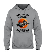 most old men drag racing Hooded Sweatshirt front