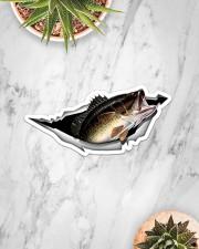 Largemouth Bass Sticker - Single (Horizontal) aos-sticker-single-horizontal-lifestyle-front-06