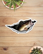 Largemouth Bass Sticker - Single (Horizontal) aos-sticker-single-horizontal-lifestyle-front-07