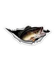 Largemouth Bass Sticker - Single (Horizontal) front