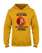 11 native old man Hooded Sweatshirt tile