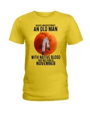 11 native old man Ladies T-Shirt tile