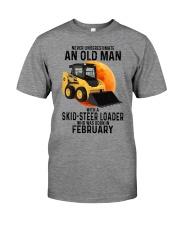 02 Skid-steer loader old man color Premium Fit Mens Tee tile