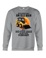 02 Skid-steer loader old man color Crewneck Sweatshirt tile