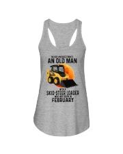 02 Skid-steer loader old man color Ladies Flowy Tank tile