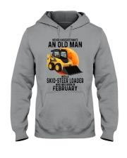 02 Skid-steer loader old man color Hooded Sweatshirt tile