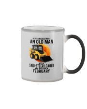 02 Skid-steer loader old man color Color Changing Mug tile