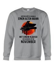 11 piano old man german Crewneck Sweatshirt tile