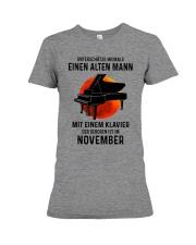 11 piano old man german Premium Fit Ladies Tee tile