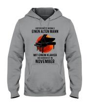 11 piano old man german Hooded Sweatshirt tile