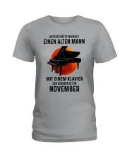 11 piano old man german Ladies T-Shirt tile