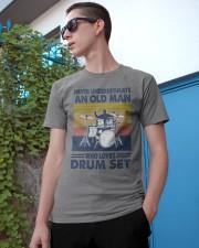 drum set oldman vintage Classic T-Shirt apparel-classic-tshirt-lifestyle-17