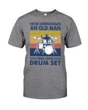 drum set oldman vintage Classic T-Shirt front