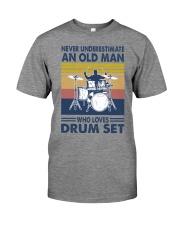 drum set oldman vintage Premium Fit Mens Tee tile