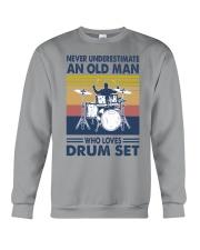 drum set oldman vintage Crewneck Sweatshirt tile